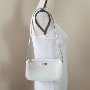 Cole Haan pebble leather white bag purse Small